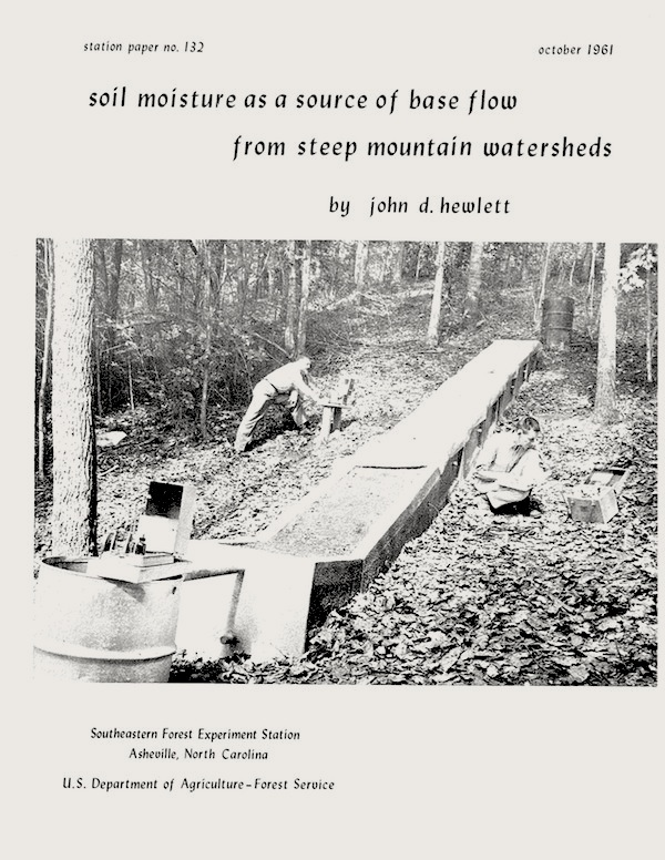 hewlett_1961_soil_moisture_as_a_source_of_base_flow_from_steep_mountain_watersheds